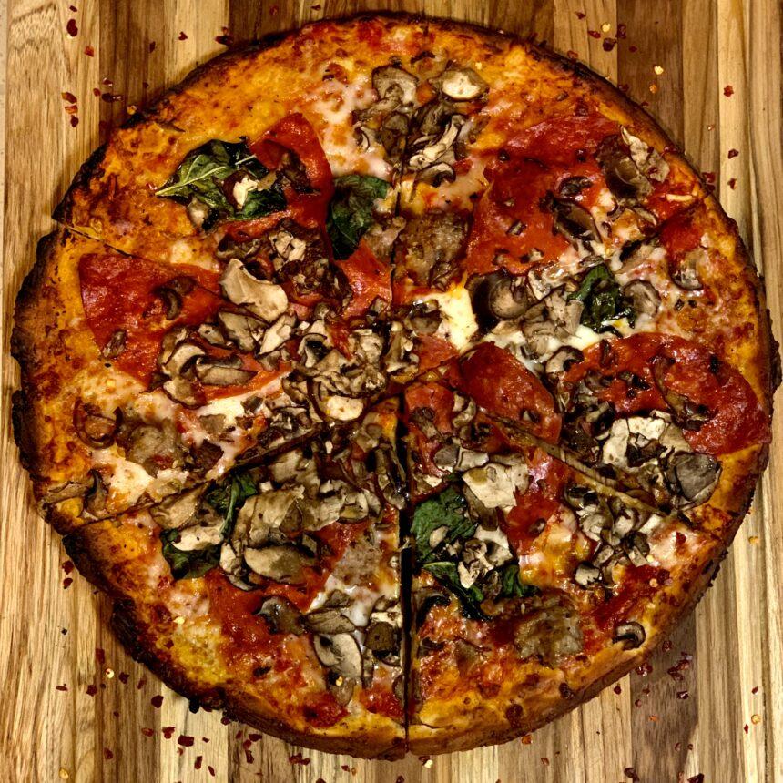 Pizza keto sin harinas